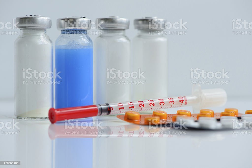 syringes pills and vials royalty-free stock photo