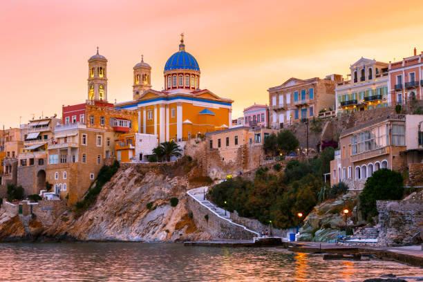 Syros, Greece. stock photo