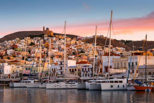 Syros island. stock photo