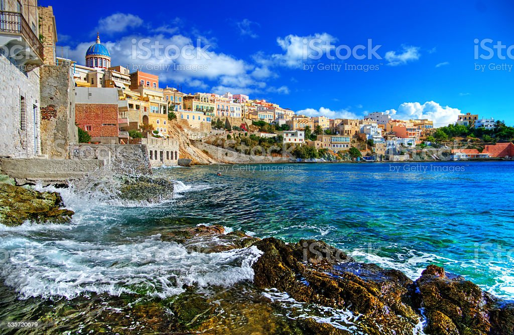 Syros,Greece. stock photo