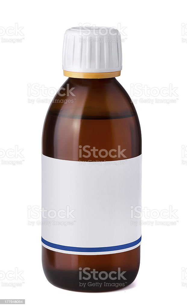 Syrup bottle royalty-free stock photo