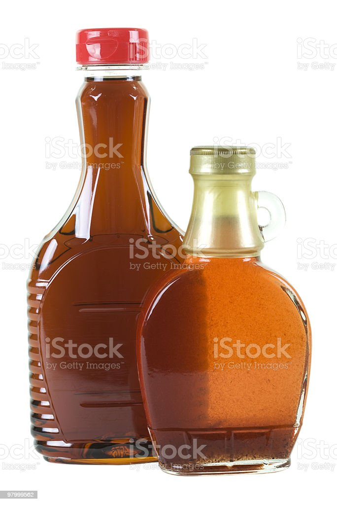 Syrup in Bottles royalty free stockfoto
