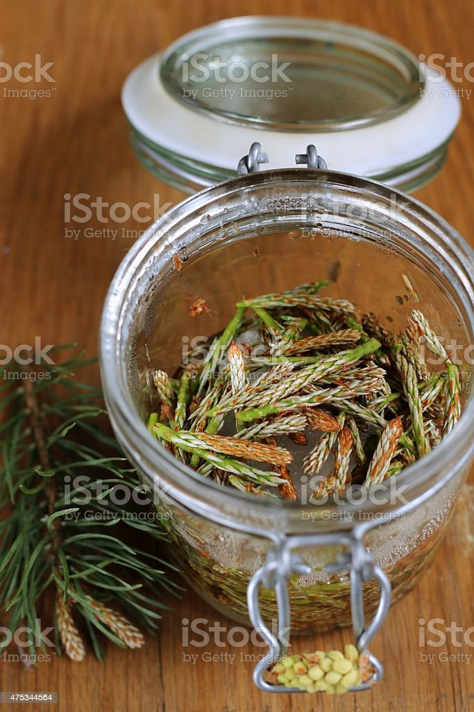Syrup Made Of Pine stock photo