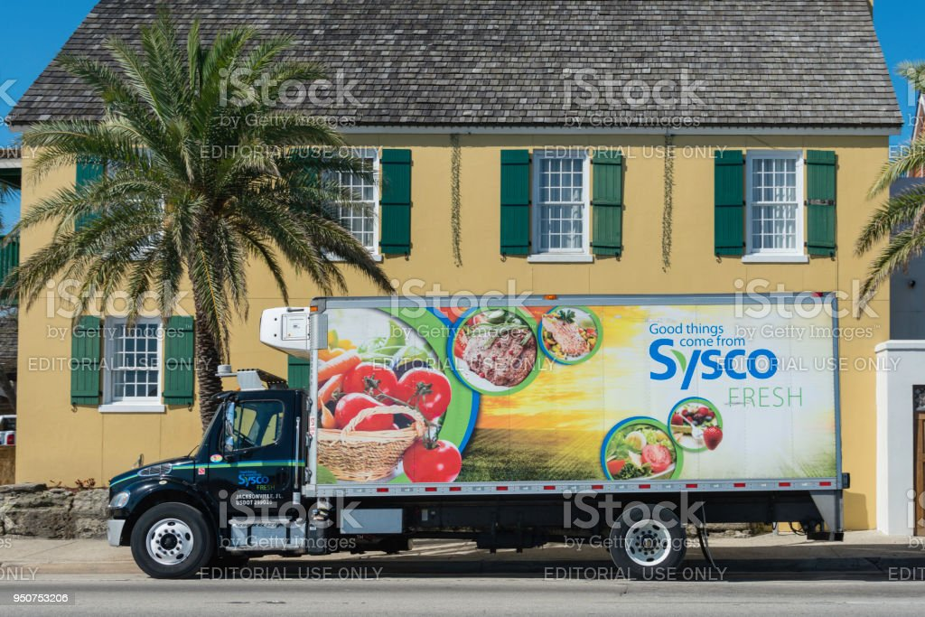 Sysco Delivery Truck St Augustine Florida Stock Photo