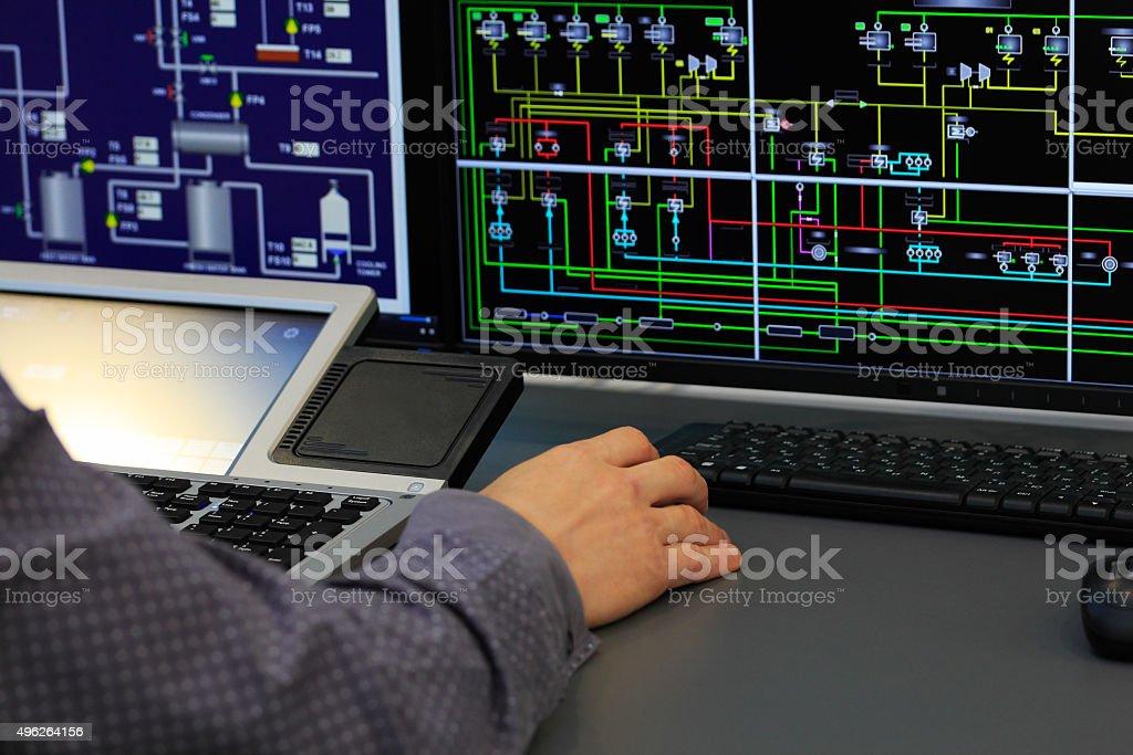 system-Kontrollraum - Lizenzfrei 2015 Stock-Foto