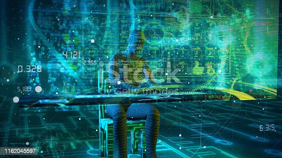 861122794 istock photo System Digital working concept. Hi tech concept 1162045597