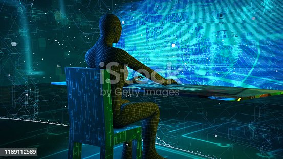 861122794 istock photo System Digital working concept. Hi tech concept 1189112569