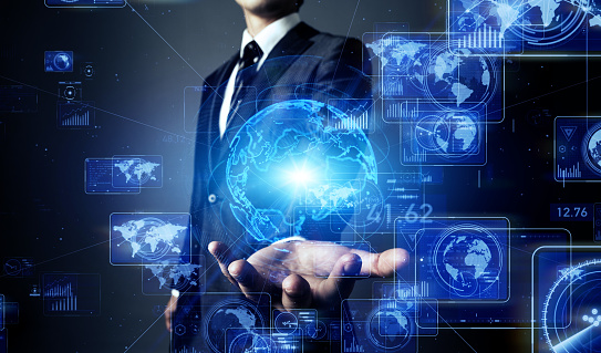 917493152 istock photo System engineer and communication network concept. 1176054480
