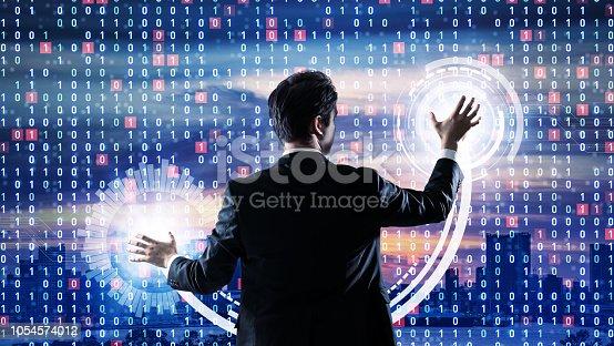 520592332istockphoto System engineering concept. Binary code. 1054574012