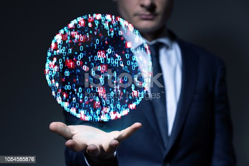 861122560 istock photo System engineering concept. Binary code. 1054585876