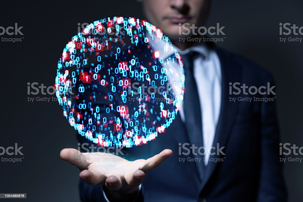 System engineering concept. Binary code. stock photo