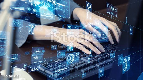 istock System engineering concept. Hi tech concept. 1154261912