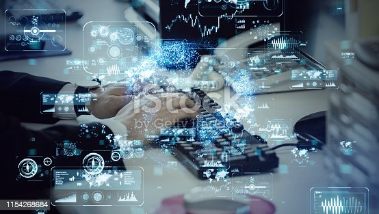 1154261912 istock photo System engineering concept. Hi tech concept. 1154268684