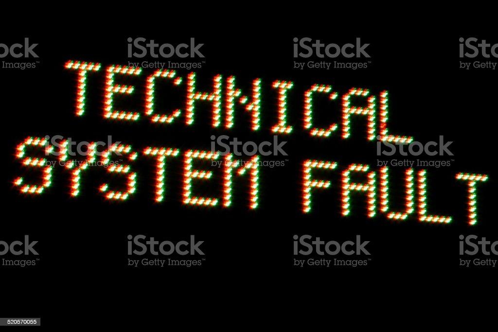 System Error on black background stock photo