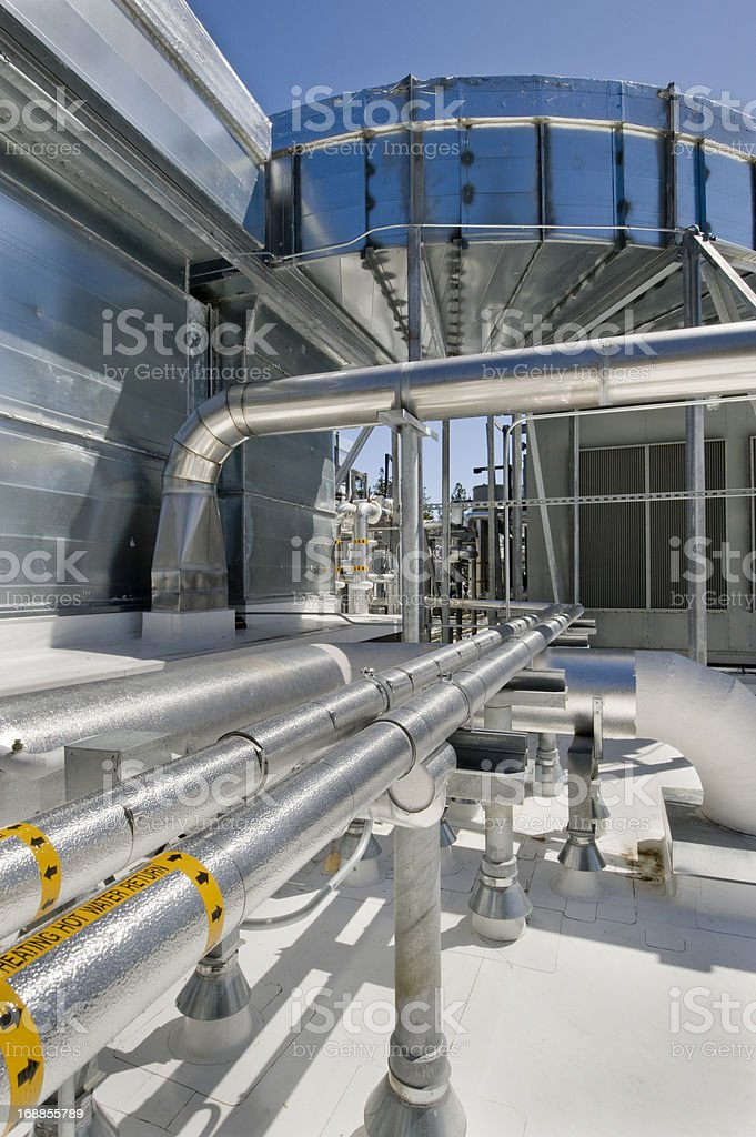 HVAC System for a Large Commercial Building royalty-free stock photo