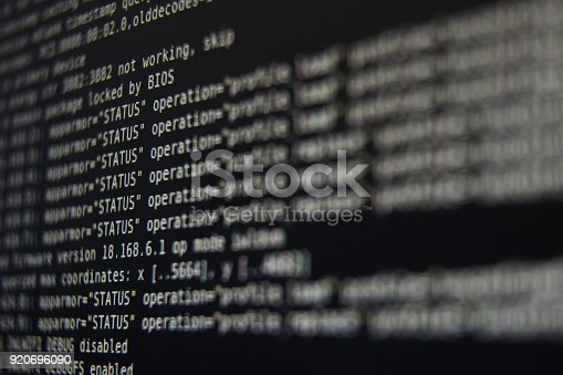 istock System Log on Screen 920696090