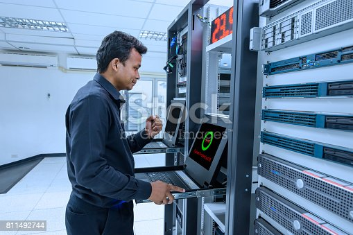 917307226istockphoto System network administrator success protected system on working 811492744