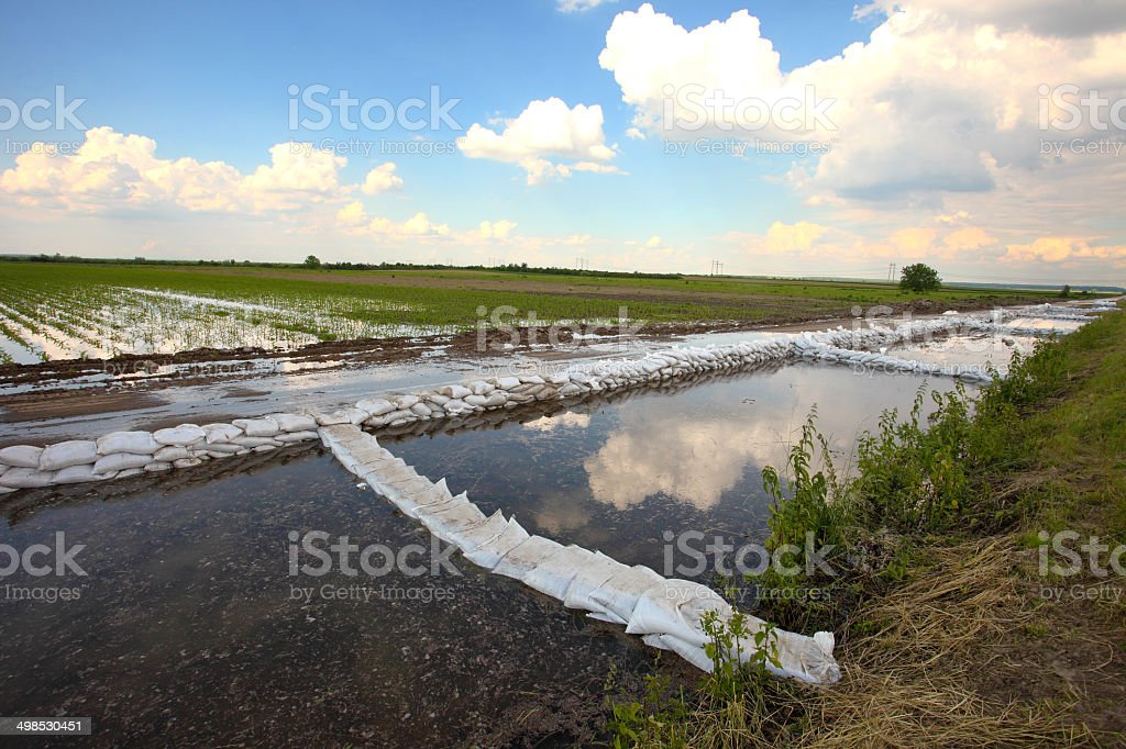 system of flood control  2 stock photo