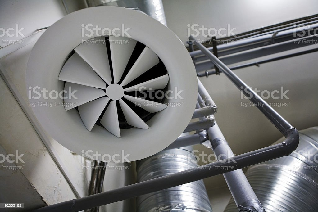 System of ventilating pipes royalty-free stock photo
