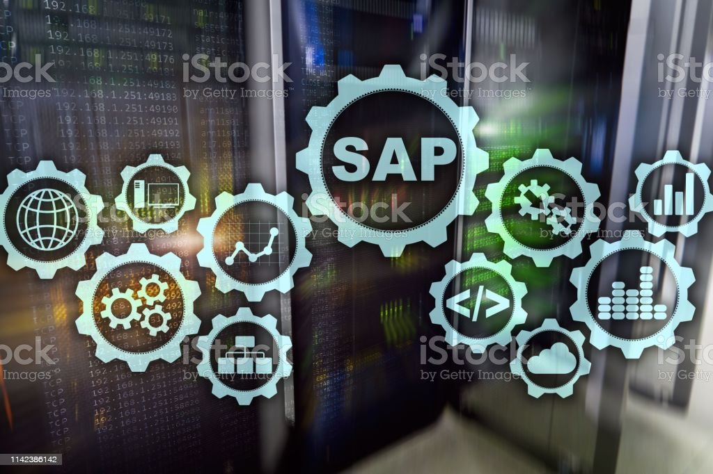 Sap System Software Automation Concept On Virtual Screen Data Center Stock Photo Download Image Now Istock