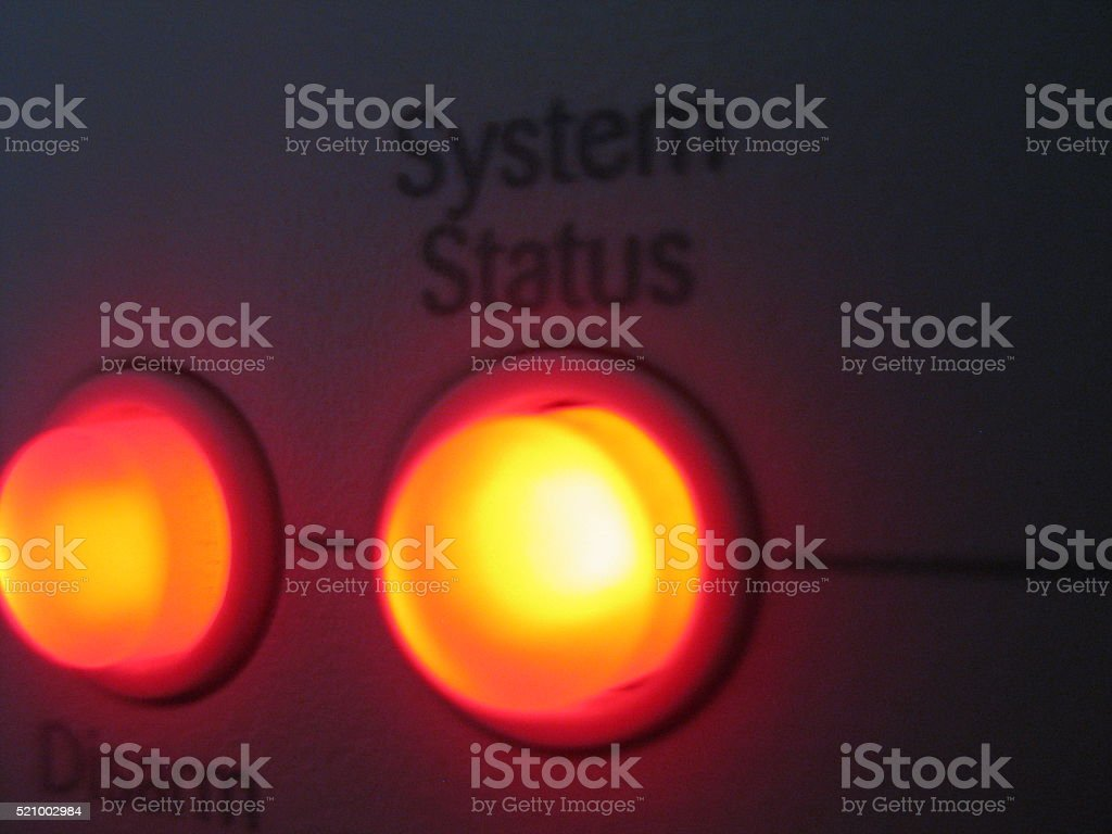 System Status Light stock photo