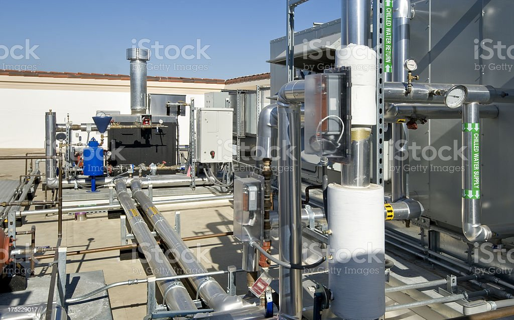 HVAC System with Boiler and Chiller Unit royalty-free stock photo