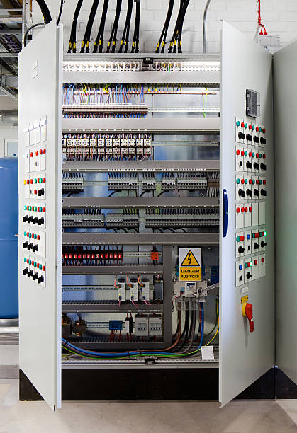 systems control cabinet - fuse box stock photos and pictures