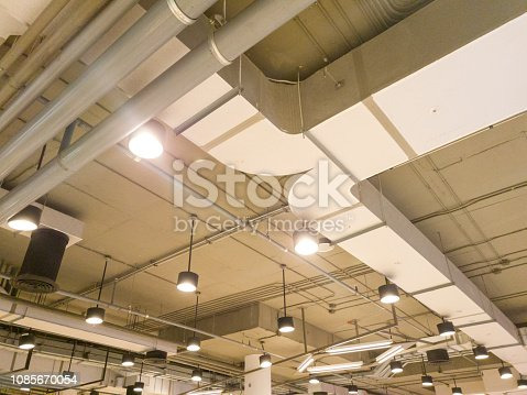 1132163701 istock photo systems of air conditioners and lighting in departments stores 1085670054