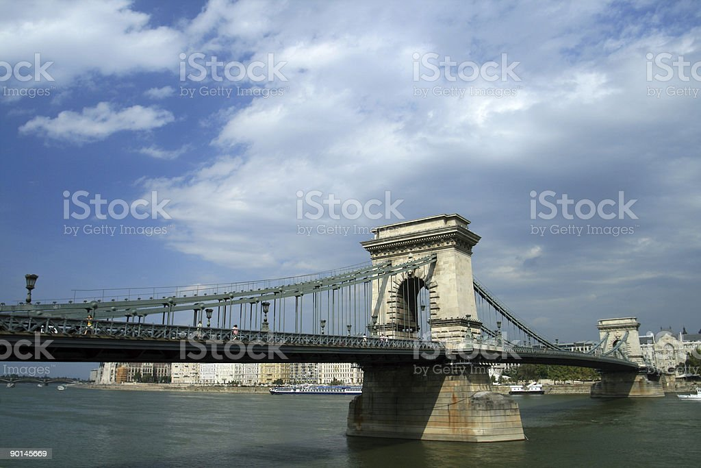 Széchenyi Chain Bridge royalty-free stock photo