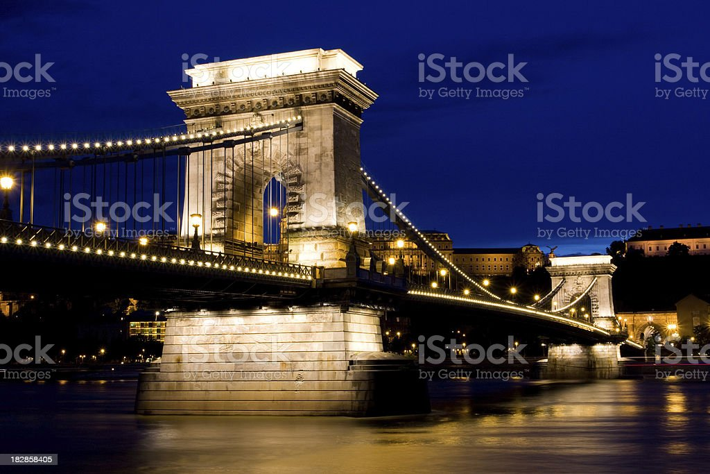 Szechenyi Chain Bridge royalty-free stock photo