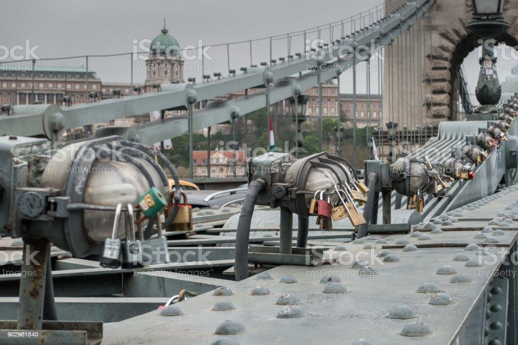 Szechenyi Chain Bridge stock photo