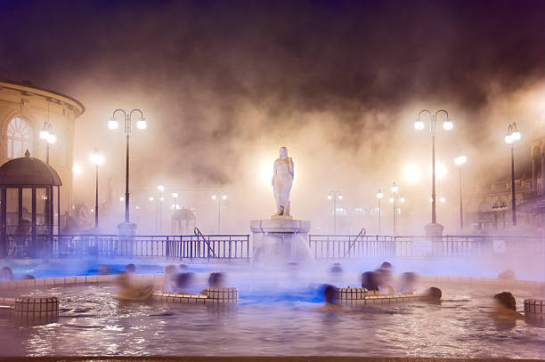 spa de szechenyi à budapest - hongrie photos et images de collection