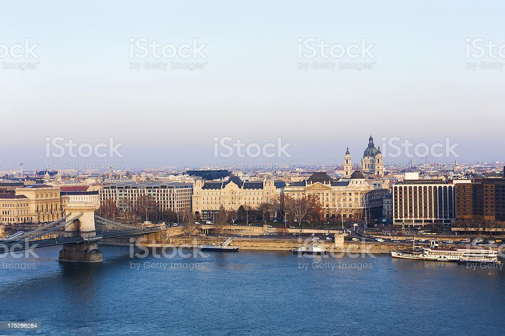 Szechenyi Square, Budapest royalty-free stock photo