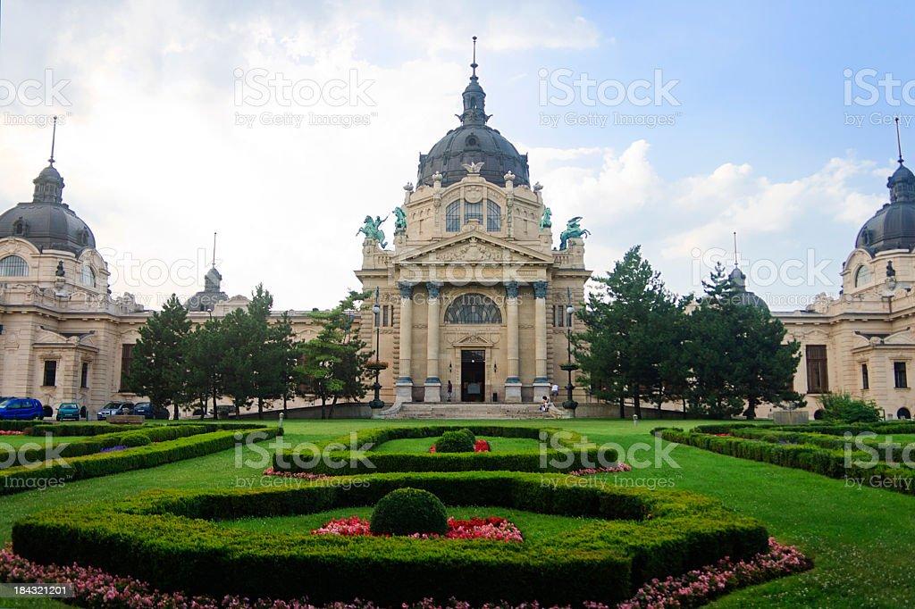 Bagni Termali Szechenyi Budapest Ungheria - Fotografie stock e altre ...