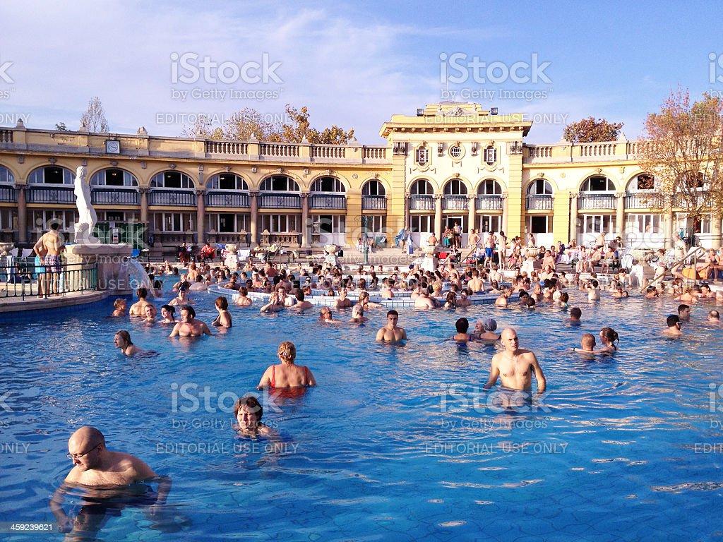 Bagni Termali Szechenyi A Budapest Ungheria - Fotografie stock e ...