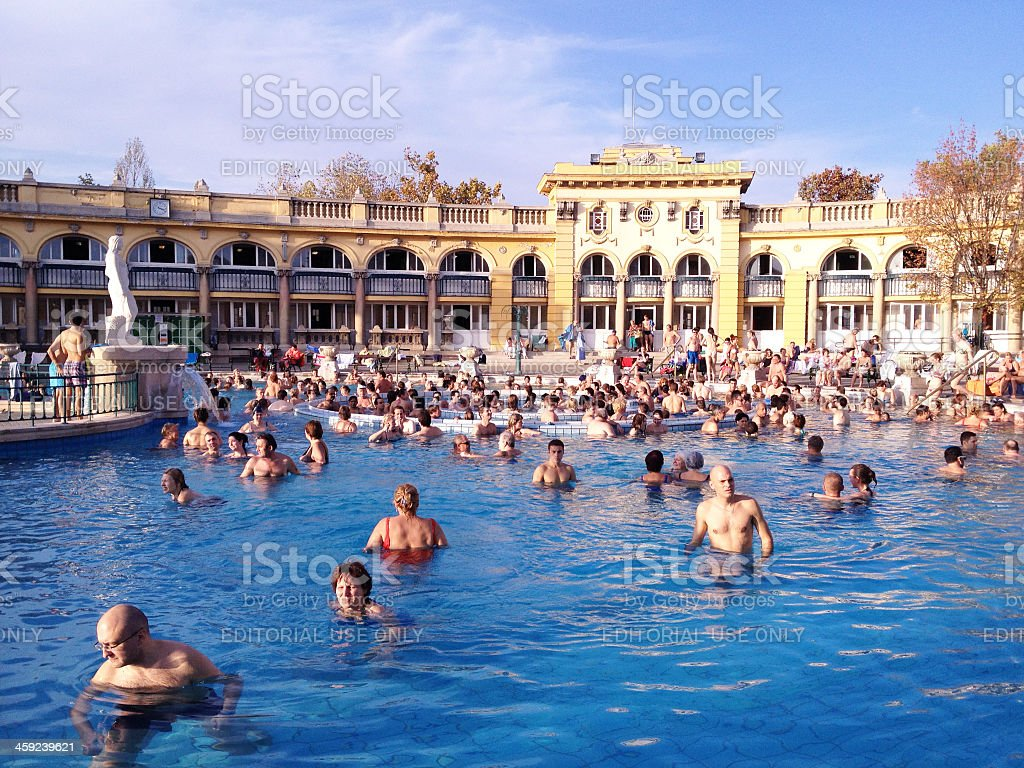 Szechenyi Thermal Baths in Budapest, Hungary stock photo