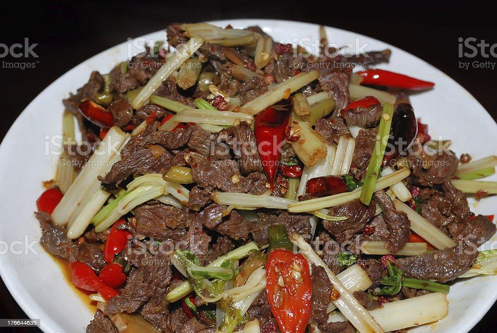 Szechuan Beef stock photo