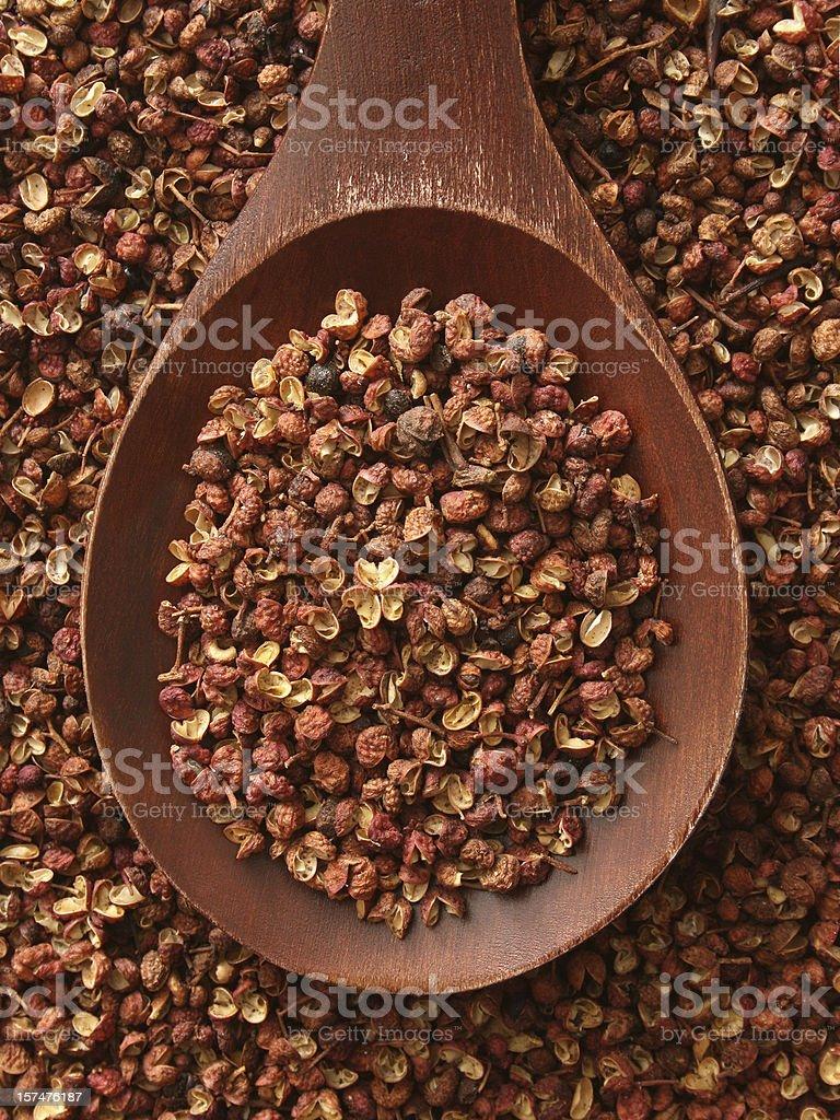 Szechuan peppercorns stock photo