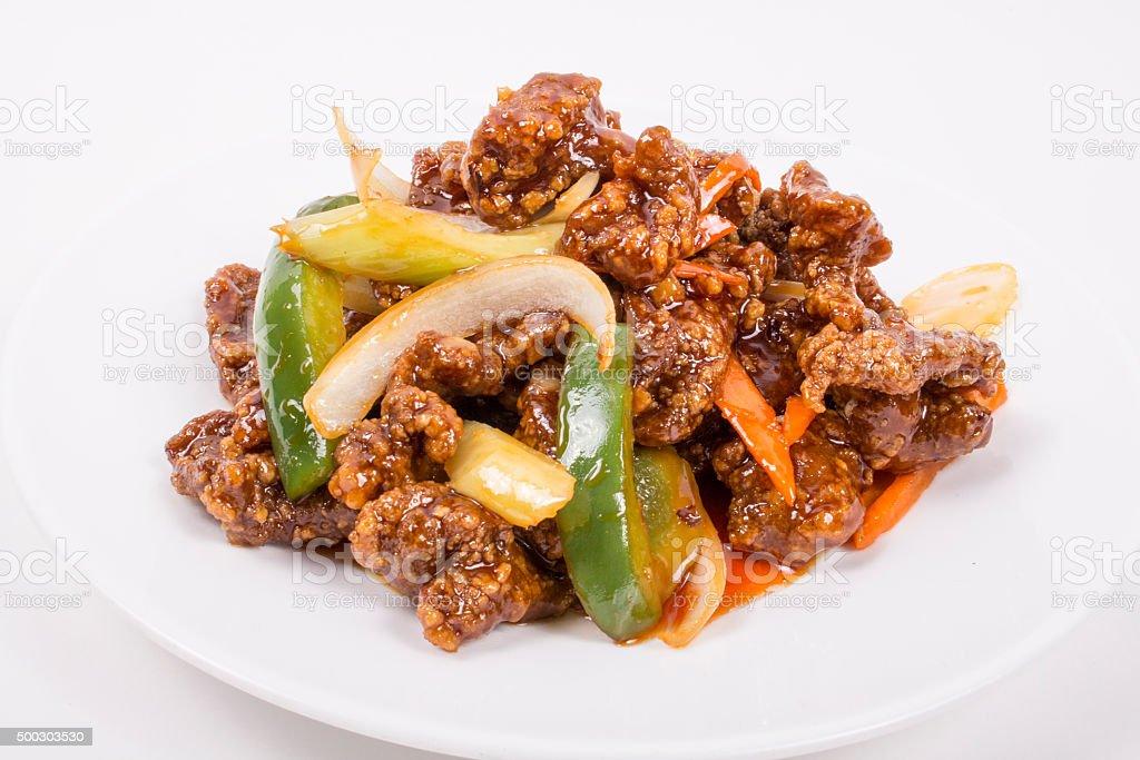 Szechuan Spicy Beef stock photo