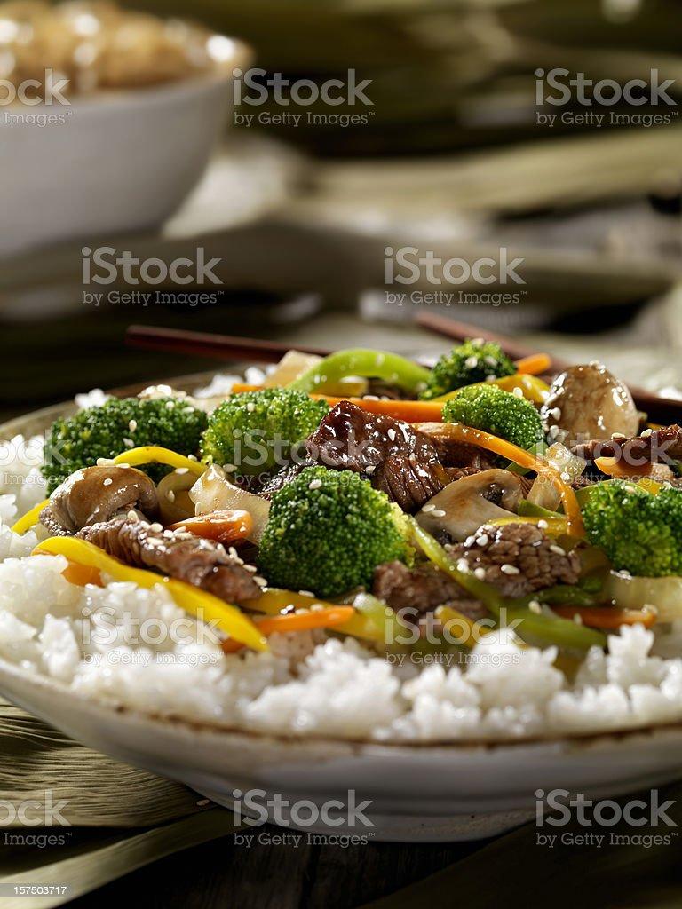 Szechwan Beef Stirfry stock photo