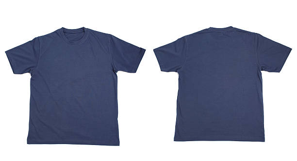 t shirt blank clothing - navy stock photos and pictures