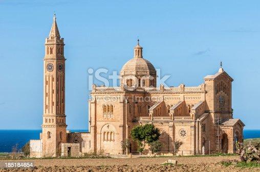 istock Ta' Pinu church near Gharb in Gozo, Malta 185184654