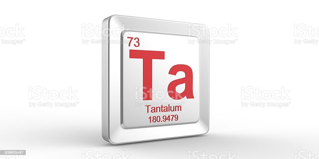 Ta Symbol 73 Material For Tantalum Chemical Element Stock Photo