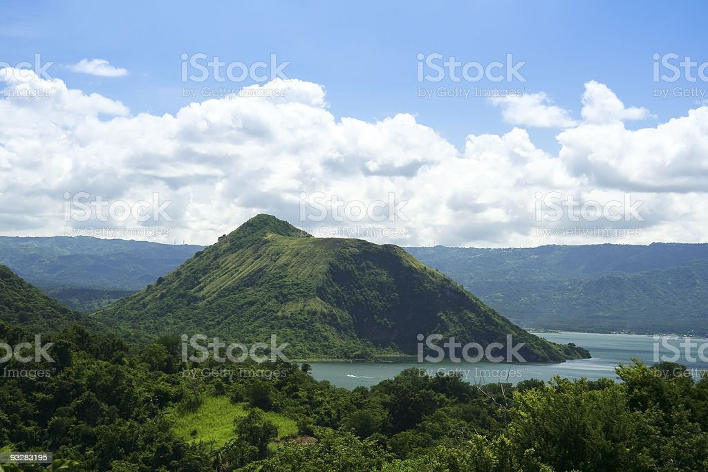taal volcano crater lake tagaytay philippines stock photo