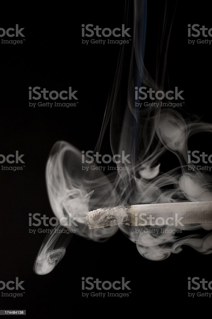 Tabacco and Smoke royalty-free stock photo