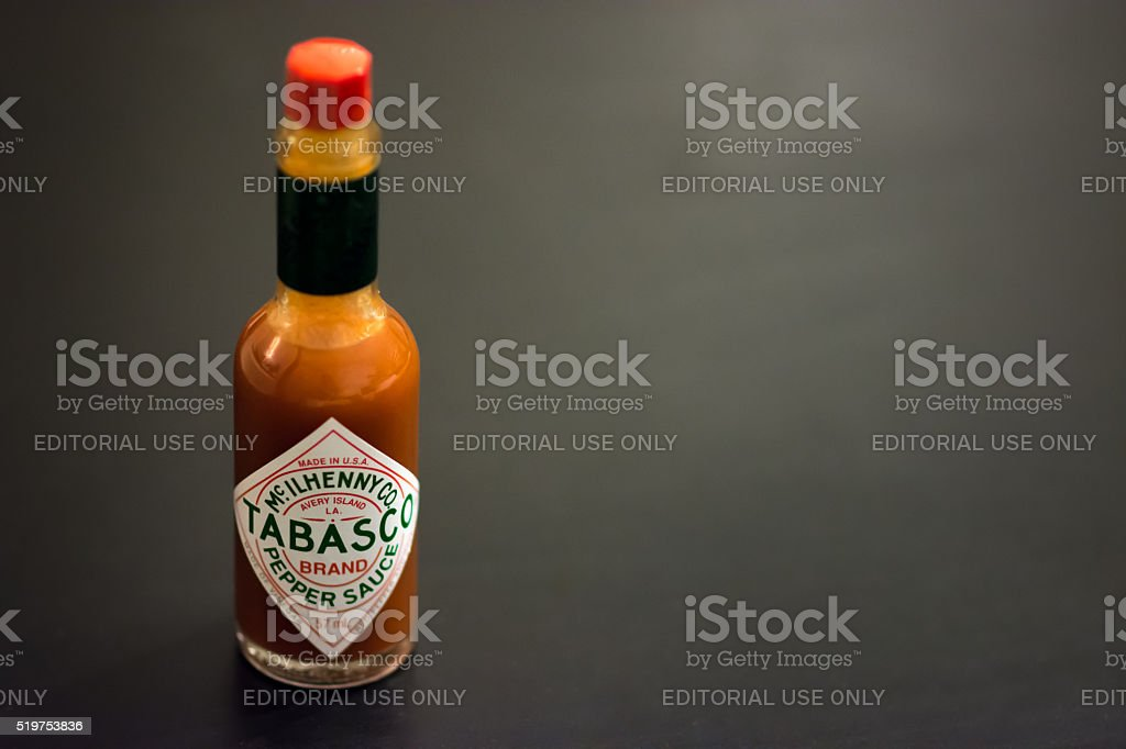 Tabasco Pepper Sauce stock photo