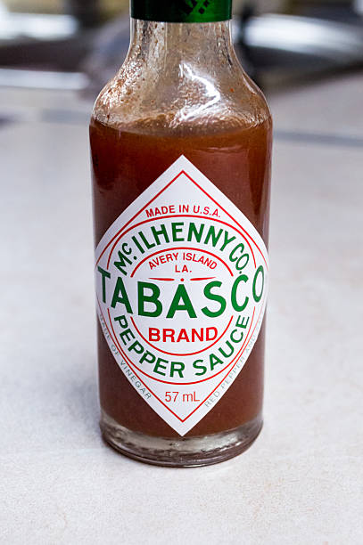 Tabasco Sauce Bottle/Logo/Label stock photo