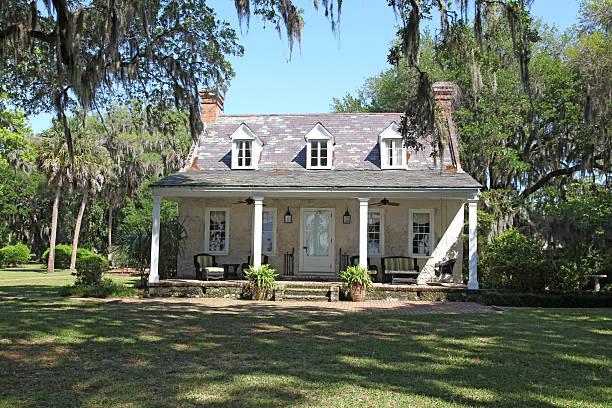 Tabby House stock photo