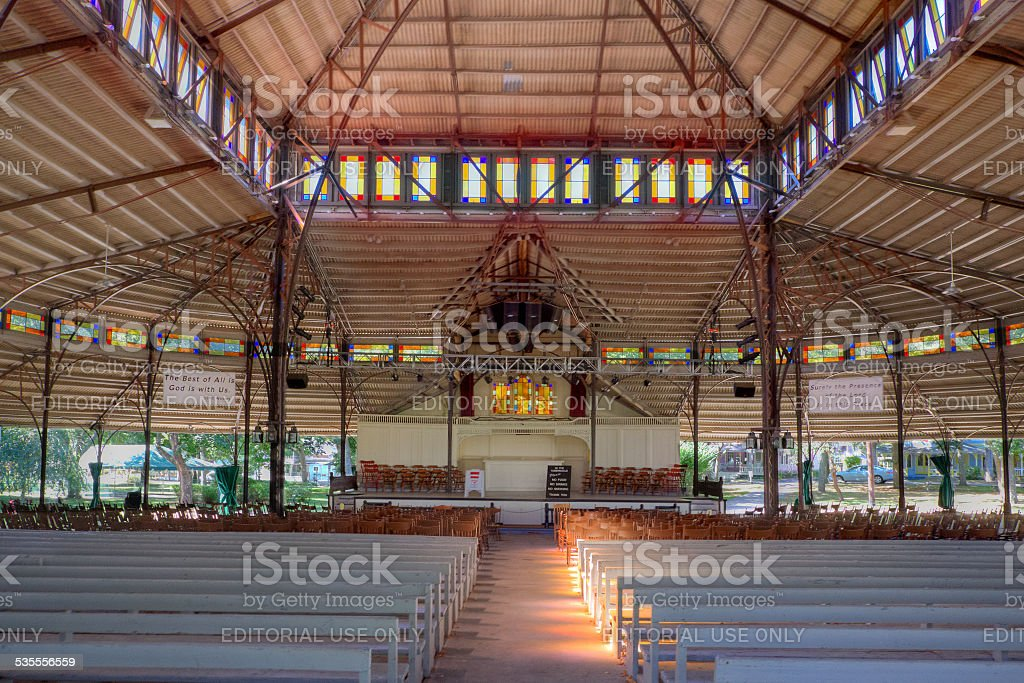 Tabernacle in Oak Bluffs, Martha's Vineyard, Massachusetts. stock photo