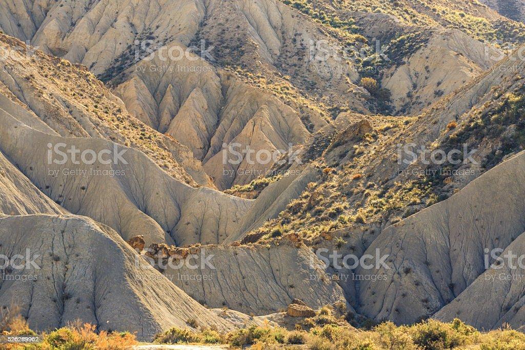 Tabernas desert - Almeria - Spain stock photo